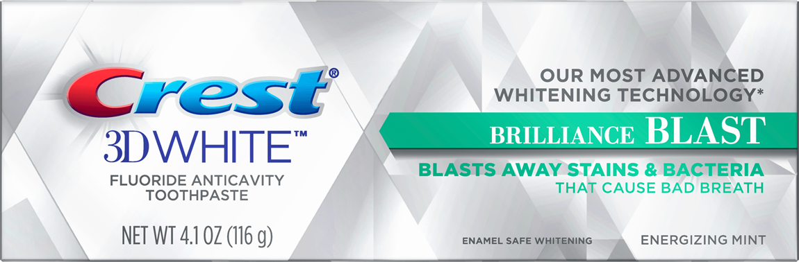 CREST 3D WHITE BRILLIANCE BLAST WHITENING TOOTHPASTE
