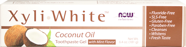 xyliwhite toothpaste coconut oil gel mint flavor